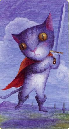 Page of Swords (Puss in boots) - Tarot of the Magical Forest