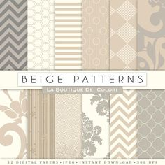 """""""Old Beige and Cream Digital Paper, cute neutral backgrounds provided in JPG format. These are perfect for Personal and Small Business Commercial Use."""""""