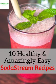 10 Healthy & Amazingly Easy SodaStream Recipes Source by healthysodadad Healthy Soda, Healthy Juices, Healthy Drinks, Healthy Recipes, Strawberry Smoothie, Fruit Smoothies, Smoothie Recipes, Juice Recipes, Flavored Water Recipes