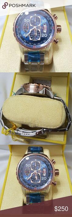 Brand NWT INVICTA men's stainless & 18k rose watch sale,  Invicta $1, 000 Men's Stainless Steel and 18k Rose Gold Ion-Plated Watch  Firm price firm price firm price  $250.00 . AUTHENTIC WATCH  . AUTHENTIC BOX  . AUTHENTIC MANUAL    SHIPPING  PLEASE ALLOW 2-3 BUSINESS DAYS FOR ME TO SHIPPED IT OFF.I HAVE TO GET IT FROM MY WAREHOUSE.    THANK YOU FOR YOUR UNDERSTANDING Invicta Accessories Watches