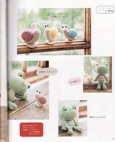 Amigurumis -- these snails are just too cute