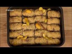 Σαραγλί Θεσσαλονίκης | Kitchen Lab by Akis Petretzikis - YouTube Desserts With Biscuits, Greek Sweets, Greek Beauty, Sweets Recipes, Confectionery, Pastries, Beef, English, Cakes