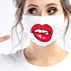 Mouth Mask Fashion, Fashion Face Mask, Diy Mask, Diy Face Mask, Mask Painting, Nose Mask, Funny Face Mask, Painted Clothes, Pocket Pattern