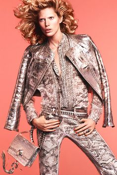 Iselin Steiro for ROBERTO CAVALLI Spring 2014 Ad Campaign #FASHIONnews