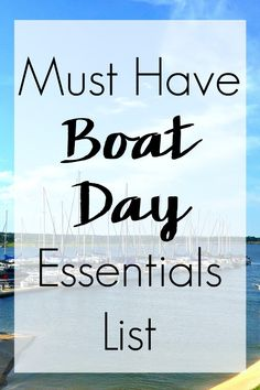 Msg 4 21 Ever wondered if you have everything when you head out on the boat? Now you don't have to with this Must Have Boat Day Essentials List! Boat Snacks, Boat Food, Ski Boats, Cool Boats, Boat Organization, Boat Supplies, Boating Tips, Boating Fun, Snacks For Boating