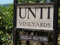 Unti Vineyards is an unassuming, relatively small producer that is making some delicious stuff. We probably won't see this in Boston. Had a chance to sample their tasty grenache and syrah benchland. Napa Sonoma, Sonoma Valley, Napa Valley, Napa Ca, Dry Creek, Outdoor Signs, Wine Tasting, Wines, Vineyard