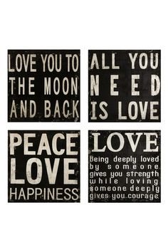 Collier Black & White Wall Quotes
