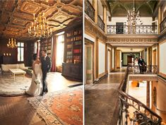 They had their wedding in an abandoned mansion. How. Freaking. Cool.