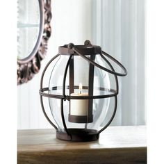 Found it at Wayfair - Heirloom Iron and Glass Lantern