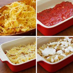 Spaghetti Squash Lasagna | Skinnytaste  Can add italian sausage and other vegetables to change things up