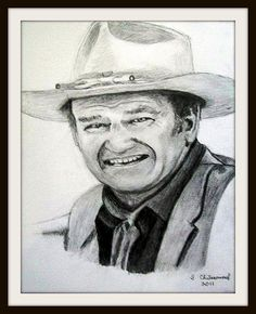 John Wayne - Pencil Drawing