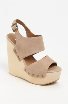 I need nude shoes … Steve Madden 'Auraa' Wedge Sandal | Nordstrom