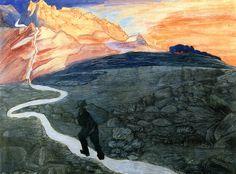 Homecoming, 1907,  Marianne von Werefkin  (Russia 1860--Switzerland 1938)