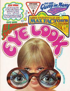 "Digging retro illustrations. ""Eye Loook"" 60s ad MaxFactor Eye Shadow Stick"