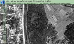 Historická ortofotomapa SR z r. 1950
