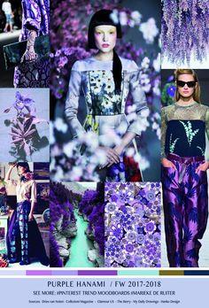 #Farbbberatung #Stilberatung #Farbenreich mit www.farben-reich.com TrendSenses Moodboard Purple Hanami