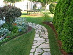 slate pathway to paver patio - Google Search