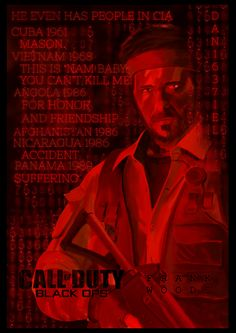 ArtStation - Call of Duty: Black Ops Frank Woods Poster, Daniel Popov Video Game Anime, Video Games, Frank Woods, Gaming Room Setup, Black Ops, Call Of Duty, Eminem, Cool Artwork, Zombies