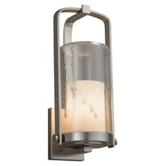 Justice Design LumenAria Atlantic FAL-7584W-10 Large Outdoor Wall Sconce - FAL-7584W-10-NCKL-LED1-700