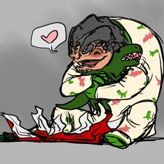 Mass Effect Grunt; Awwwww feetie pajamas with dinos on them. That is so freaking cute Mass Effect Grunt, Mass Effect Funny, Mass Effect 1, Mass Effect Universe, Commander Shepard, Dating Simulator, Geek Girls, Dragon Age, T Rex