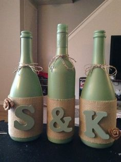 Tried out a wine bottle craft :)