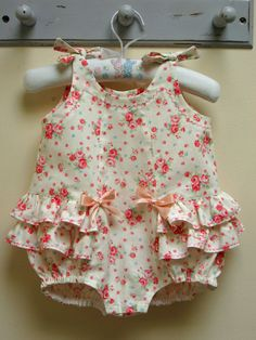 Baby Girl Romper #pattern #sewing