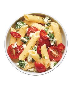 Pasta Salad With Tomatoes, Goat Cheese, and Chilies Recipe