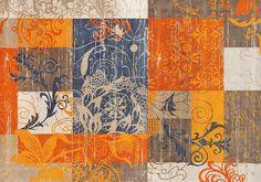 Details:  Stilisierte Blüten- und Rankenmotive, Verspielte, feine Ornamentik, Farbharmonie in Grau-Taupe-Creme mit wohnlichen orange Tönen, Mit rutschhemmender Rückenbeschichtung,  Qualität:  2,7 kg/m² Gesamtgewicht, 9 mm Gesamthöhe, Rücken 100% Nitrilgummi, Rutschhemmende Beschichtung auf der Unterseite,  Flormaterial:  100% Polyamid,  Wissenswertes:  Waschbar bei 60° C oder Teppichreinigung/W...