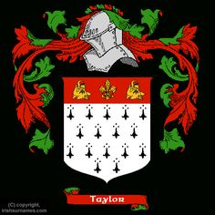 Taylor Coat of Arms, Family Crest - Click here to view