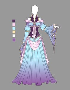 Fashion Drawing Out-of-this-world fashion for the Futura. (Adoptable outfit by LaminaNati on DeviantArt) by adrian Dress Drawing, Drawing Clothes, Kleidung Design, Anime Dress, Illustration Mode, Fantasy Dress, Character Outfits, Anime Outfits, Fashion Sketches