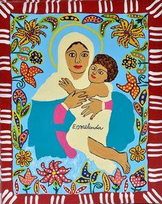 Ermelinda. Nossa Senhora. 30x24 cm.