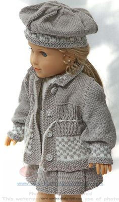 Baby Knitting Patterns Puppenkleider selber stricken...