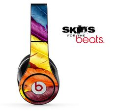 Neon Feather Skin for the Beats by Dre Studio Solo by TheSkinDudes, $19.99