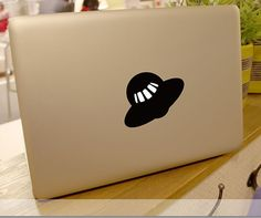 UFO flight Vinyl Decal for apple MacBook Laptop skin Sticker free ship