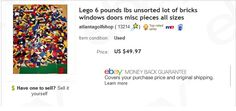 6lbs of used Legos - found in basement - sold for $49.97 + shipping