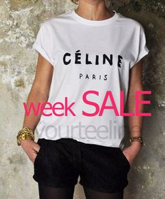 Celine Paris  Tshirt Style Printed Tshirt women  by yourteeline, €9.90