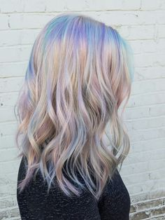 Holographic Hair is The Latest Hair Trendsummer hair inspiration, summer haircolor, summer hair colour, summer Cabello Opal, Unicorn Hair Color, Opal Hair, Latest Hair Trends, Festival Hair, Pastel Hair, Bright Hair, Colorful Hair, Cool Hair Color