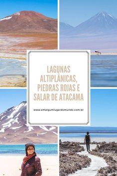 Como é o passeio para Lagunas Altiplânicas, Piedras Rojas e Salar de Atacama: mais um daqueles passeios no deserto que são cheio de cores e paisagens surreais. #Atacama #DesertodoAtacama #Chile #deserto #emalgumlugardomundo #viagem #viajar #dicasdeviagem #ferias