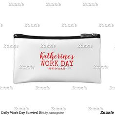 Shop Daily Work Day Survival Kit Cosmetic Bag created by camcguire. Survival Shelter, Survival Kit, American Girl Crafts, Small Cosmetic Bags, Customizable Gifts, Custom Knives, White Elephant Gifts, Business Supplies, Cosmetics