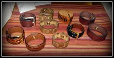 Recycled belt bracelets