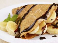 Crepes de banana, chocolate y chile