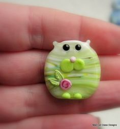 Summer Kitty 3 Focal Bead by 'Mad Cat Glass' ETSY- (FHF/SRA/BritishLampwork) <3<3ADORABLE & <3THE COLOUR<3<3