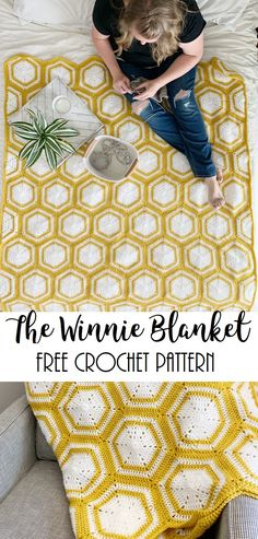 The Winnie Blanket-Free Crochet Pattern Meghan Makes Do The Winnie Blanket-Free Crochet Pattern Meghan Makes Do crochet hexagon blanket free pattern free crochet hexagon blanket pattern crochet Crochet Afghans, Crochet Hexagon Blanket, Modern Crochet Blanket, Crochet Motifs, Crochet Squares, Crochet Stitches, Crochet Blankets, Hexagon Crochet Pattern, Modern Crochet Patterns