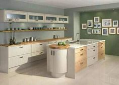 Kitchen Appliance Storage, Kitchen Cabinetry, Kitchen Appliances, Cupboards, Kitchen Shelves, Cream Kitchen Designs, Modern Kitchen Design, Diy Kitchen, Kitchen Dining