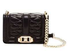 Get the trendiest Cross Body Bag of the season! The Rebecca Minkoff New Mini Love Black Gold Leather Cross Body Bag is a top 10 member favorite on Tradesy. Quilted Leather, Gold Leather, Designer Handbags On Sale, Leather Crossbody Bag, Crossbody Bags, Vintage Bags, Chanel Boy Bag, Bag Sale, Rebecca Minkoff