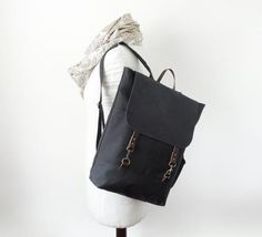 Solid Black backpack diaper bag travel bag school bag laptop bag work bag e Diaper Bag Backpack, Laptop Backpack, Black Backpack, Leather Backpack, Everyday Bag, Dark Navy, Solid Black, School Bags, Travel Bags