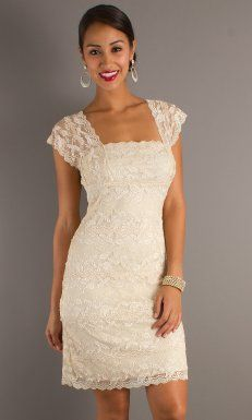 White Mini Length Slim Line Off Shoulder Low Back Junior Dresses With Lace And Zipper Juniordress0226