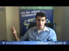 www.FollowNick.com 19. Gain testimonials from customers - Facebook Marketing About Facebook, Free Courses, Facebook Marketing, Gain, Social Media, Youtube, Social Networks, Social Media Tips, Youtube Movies