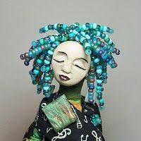 Wisdom Keeper Art Dolls: Inspirations of an Art Doll Textile Sculpture, Ceramic Sculptures, Little Presents, Spirited Art, Assemblage Art, Fairy Art, Fairy Dolls, Doll Crafts, Beautiful Dolls