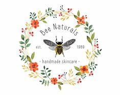 Your place to buy and sell all things handmade Photography Packaging, Logos Photography, Hand Logo, Bee Design, Clean Design, Logo Bee, Honey Label, Modern Logo, Modern Minimalist